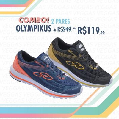 Combo Olympikus Starter Azul com laranja + Preto com Amarelo