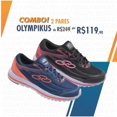 Combo Olympikus Starter Azul com Laranja + Preto com Rosa