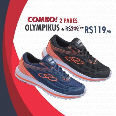 Combo Olympikus Starter Preto com Laranja + Azul com laranja