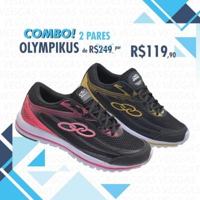 Combo Olympikus Starter Preto com Amarelo + Preto com Rosa