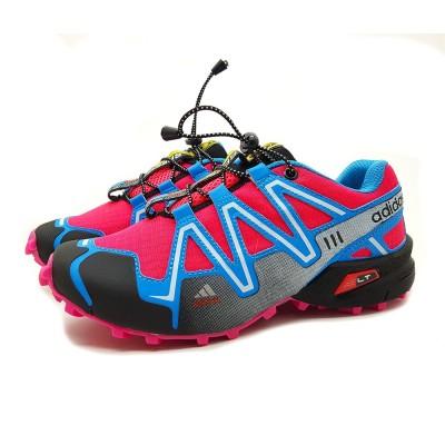 Tênis Adidas Speedcross 3 feminino - royal-rosa